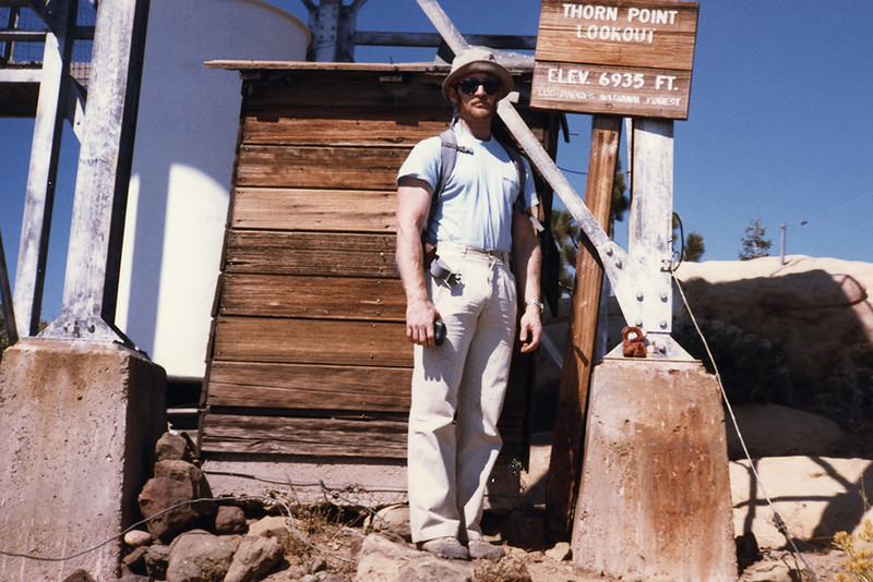 I know I hiked up to Thorn Point, perhaps more than once. I don't remember the particulars of the visit pictured here, sometime before 1984 (I recognize the pack strap and I know I replaced that pack in 1984 with one I carried day hiking for the next 8 years).