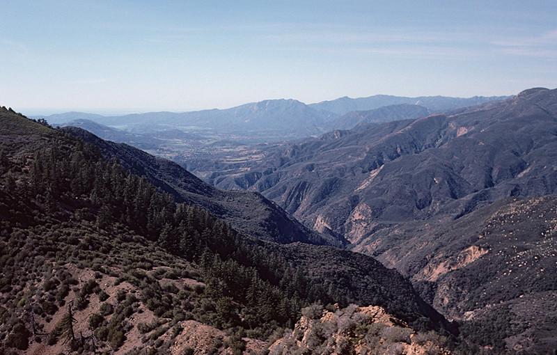 East Fork Santa Paula Canyon from Santa Paula Peak, 04/1985