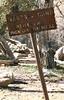 Manzana Camp trail sign, 05/1981