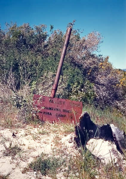 Lost Valley Trail marker to Hurricane Deck, 26 Mar, 1988.