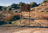 Trail sign near Dough Flat, 01/1985