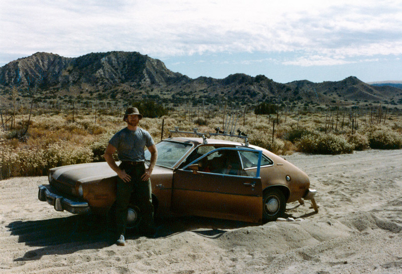 In the sand in Hungry Valley, 1983. The 1974 Pinto was not a capable off road vehicle. It was not a capable on road vehicle for that matter. This one threw a rod on the Conejo grade. Fortunately, junk yard engines were easily and cheaply available.