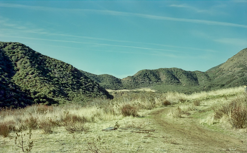 Junction with Sespe Hot Springs Canyon trail, 12/1986.