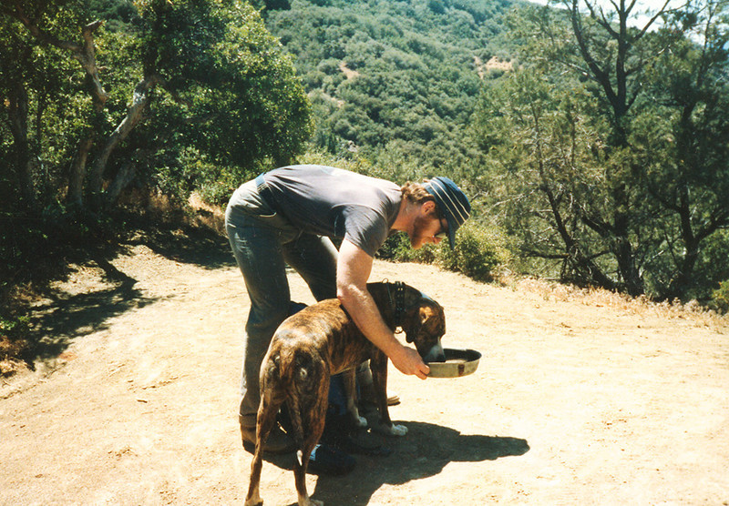 With Boots at Beartrap #1, March, 1985.
