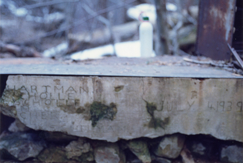 "Old concrete stove near Upper Bear Camp, 19 Feb, 1988. How cool is this <a href=""http://www.flickr.com/photos/umotamba/5437037158/in/set-72157626026575824"">picture</a>, from 2011?"