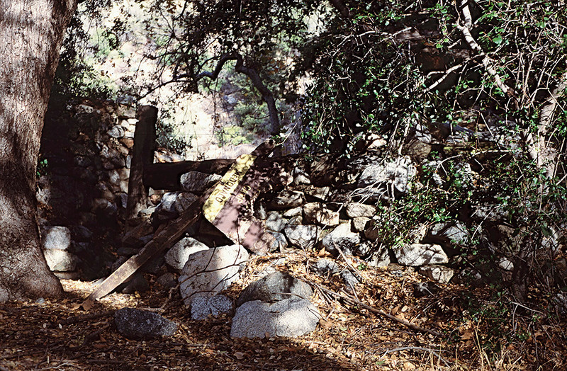 "Ruins, McDonald Cabin, 11/1984. I understand there is nothing left of the site in 2010. This is sad, as McDonald was curiously historic. The David Stillman blog <a href=""http://davidstillman.blogspot.com/2010/05/indian-cave-mcdonald-creek-0521-2310.html"" target=""_"">describes the area as it is as of 2010</a>."