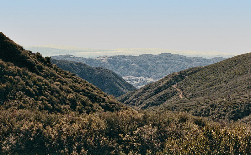 Looking back down Sisar Canyon, 11/1982