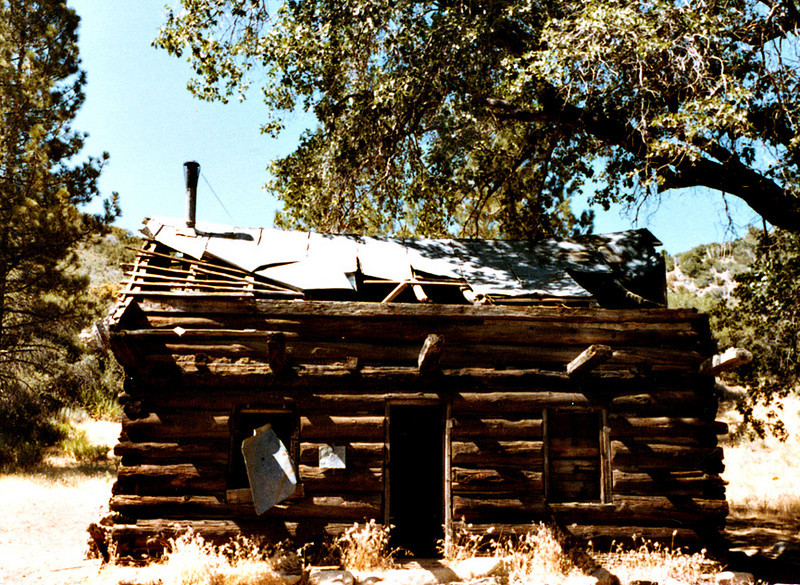 Baker Cabin on the Snowy Creek Trail, 08/1983. It is my understanding this old cabin burned to ashes in the Day Fire, 2006.