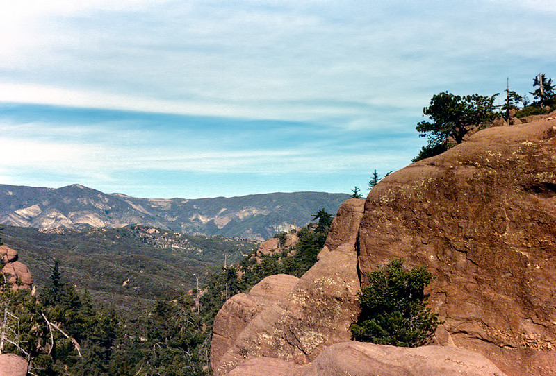 View from Bluff Camp reached via East Fork Santa Paula Creek, 12-24-1985