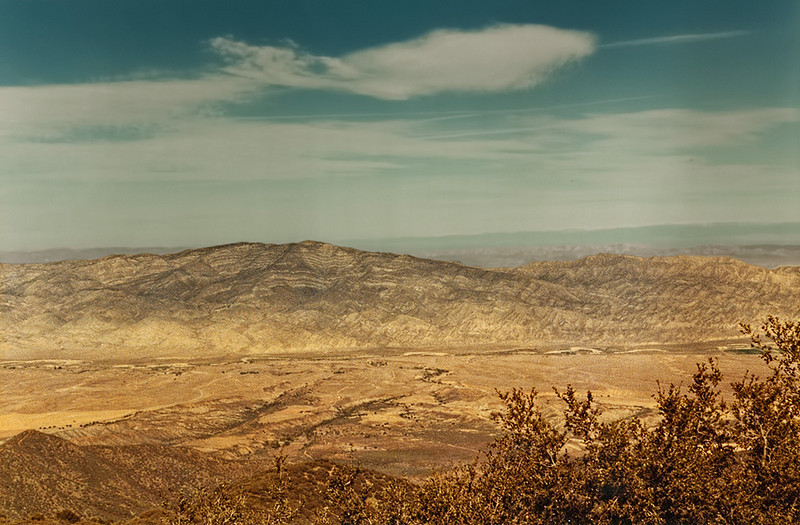 The Cuyama Valley from McPherson Peak, 11/1984.