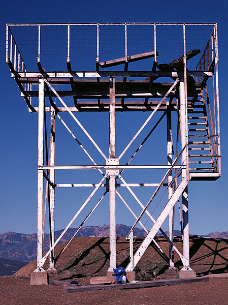The fire tower on Nordhoff Peak, 12/1984.
