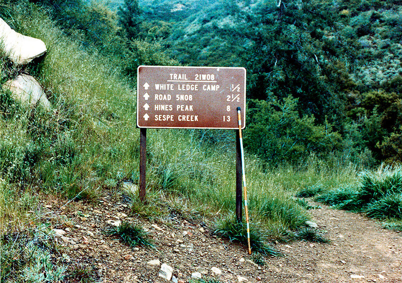 Start of the Red Reef trail from SIsar Canyon Fire Road, 04/1983