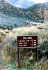End of the Red Reef trail at Sespe Creek (based on my direction of travel), 04/1983