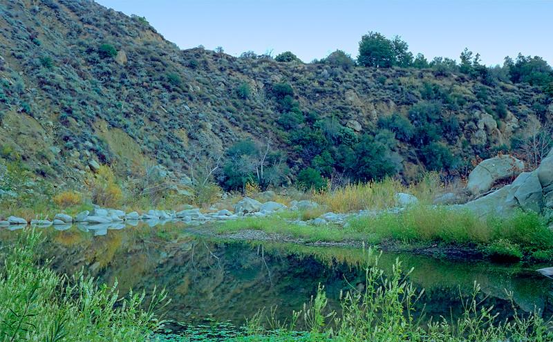 Sespe Creek at the Alder-Sespe confluence, 12/1986.