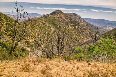 Madulce trail, Madulce ridge, Madulce peak from the Madulce trail junction at BIg Pine Forest Service road, May 16, 2013.