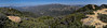 The view north to Monte Arido from Santa Ynez ridge; Divide Peak is far frame right (east), March 22, 2013.
