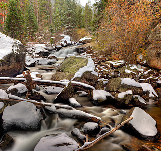 North St. Vrain Creek at upper Copeland falls