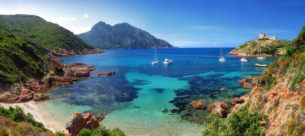 plage de Girolata - Il paraît que c'est beau la Corse, il paraît
