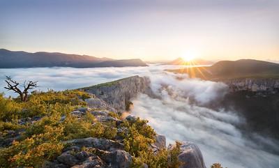 Sunrise on heaven