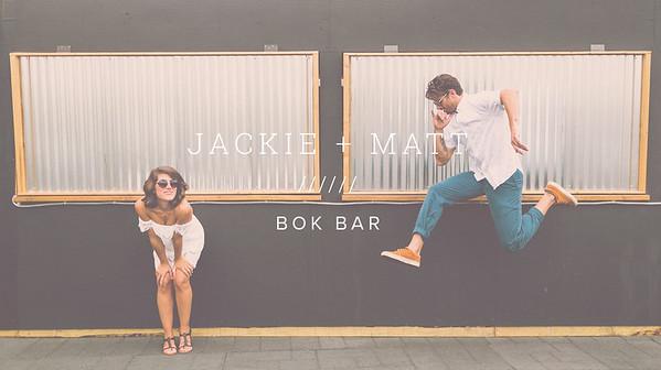 JACKIE + MATT ////// BOK BAR
