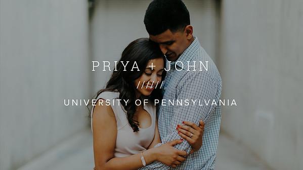 PRIYA + JOHN ////// UNIVERSITY OF PENNSYLVANIA