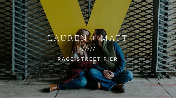LAUREN + MATT ////// RACE STREET PIER