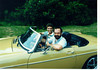 Chuck Linick & Craig Peck in Craig's MG