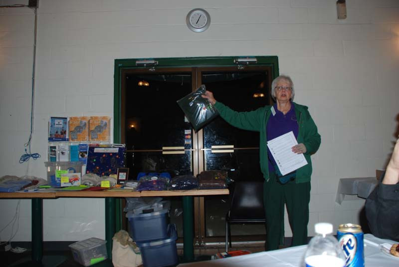 Bev showing the regalia