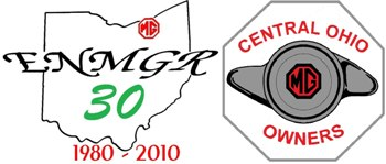 The Emerald Necklace MG Register and Central Ohio MG Owners Logos.
