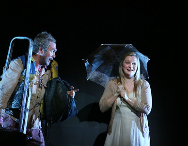 ENO The Magic Flute 2019, Thomas Oliemans and Lucy Crowe, © Donald Cooper