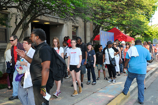 """SAINT SABINA HOST A RALLY & MARCH """"ENOUGH IS ENOUGH"""" BEGINNING AT SAINT SABINA CHURCH ON 78TH PLACE & RACINE. """"FATHER PFLEGLER ACTIVIST & COMMUNITY LEADER """" IS LEADING THE CAUSE AGAINST THE YOUTH OF CHICAGO BEING GUNNED DOWN BY GANG MEMBERS AND THE POLICE AS WELL.SPECIAL GUEST INCLUDE CHANCE THE RAPPER & JENNIFER HUDSON PHOTOGRAPHER VALERIE GOODLOE"""
