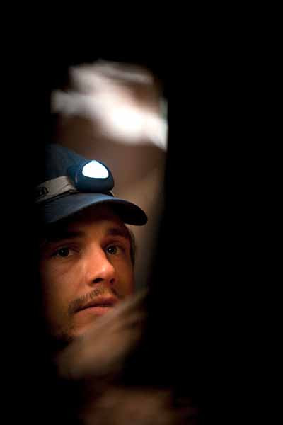 "James Franco in survival drama ""127 Hours,"" based on the true story of hiker Aron Ralston."