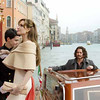 "Angelina Jolie as ""Elise"" and Johnny Depp as ""Frank"" arriving at the Hotel Danieli in THE TOURIST in Venice, Italy."