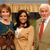 """In this May 5, 2011 publicity image released by """"The Rachael Ray Show,"""" Mary Tyler Moore, left, host Rachael Ray, center, and Dick Van Dyke pose during a taping of """"The Rachael Ray Show,"""" in New York. Moore and Van Dyke, co-stars from the 1960s comedy series, """"The Dick Van Dyke Show,"""" reunite on Ray's daytime show airing Thursday, May 12. Van Dyke is promoting his  memoir, """"My Lucky Life In and Out of Show Business."""" (AP Photo/The Rachael Ray Show, David E. Steele)"""