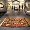 A prayer carpet given by Iran in the 16th century is on display in the Gifts of the Sultan: The Arts of Giving at the Islamic Courts exhibition at the Los Angeles County Museum of Art June 1, 2011.  The exhibition, which runs June 5-September 5, 2011, explores Islamic Art through the universal tradition of gift giving.  Gifts of the Sultan spans the eighth through nineteenth centuries and features more than 250 works of art.(Andy Holzman/Daily News Staff Photographer)