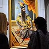 A portrait of Fath 'Ali Shah was given as a gift and is on display in the Gifts of the Sultan: The Arts of Giving at the Islamic Courts exhibition at the Los Angeles County Museum of Art June 1, 2011.  The exhibition, which runs June 5-September 5, 2011, explores Islamic Art through the universal tradition of gift giving.  Gifts of the Sultan spans the eighth through nineteenth centuries and features more than 250 works of art.(Andy Holzman/Daily News Staff Photographer)