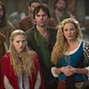 "AMANDA SEYFRIED as Valerie, BILLY BURKE as Cesaire and VIRGINIA MADSEN as Suzette in Warner Bros. Pictures' fantasy thriller ""RED RIDING HOOD,"" a Warner Bros. Pictures release."