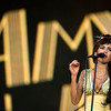 In this July 4, 2008 file photo, singer Amy Winehouse of England performs during the Rock in Rio music festival in Arganda del Rey, on the outskirts of Madrid. British police say singer Amy Winehouse has been found dead at her home in London on Saturday, July 23, 2011. The singer was 27 years old.