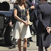 This Sunday, July 10, 2011 file photo shows Kate, the Duchess of Cambridge, as she arrives for her departure at Los Angeles International Airport in Los Angeles. Since the heyday of the 1980s, there's been a casual revolution, a revolt against covered-but-sheer legs. Now hosiery is making its comeback.