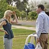 Will Ferrell as Nick Halsey talks with Laura Dern as Delilah in  Everything Must Go.