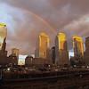 Rainbow over Ground Zero in REBIRTH - Photo: Courtesy of SHOWTIME - Photo ID: rebirth_rainbow