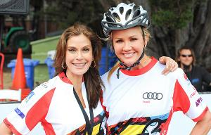 Teri Hatcher and Nancy O'Dell during the Best Buddies ride