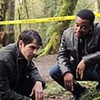"""(Left to Right) David Giuntoli as Nick Burckhardt, Russell Hornsby as Hank Green in the pilot of """"Grimm."""""""