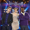 Ben Folds, left, Sara Bareilles and Shawn Stockman are the judges on NBC s  The Sing-Off.