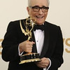 Martin Scorsese wins at the 63rd Primetime Emmy Awards show at the Nokia Theatre in Los Angeles, California on September 18, 2011. (Hans Gutknecht , Staff Photographer)