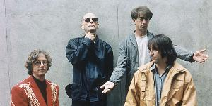 Rock band R.E.M. announced Wednesday, Sept. 21, 2011 on its website that it is breaking up. The band as seen in this 1994 file photo included, Mike Mills, left, Michael Stipe, Bill Berry, and Peter Buck. Berry left the group in 1997. (AP Photo/Warner Bros.)