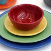 """Earthenware dinnerware set by Durlin Brayton in 1930 at the LACMA exhibit California Design, 1930-1965: """"Living in a Modern Way."""" (Michael Owen Baker/Daily News Staff Photographer)"""