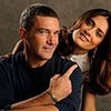 "Antonio Banderas and Salma Hayek will join each other again as they voice characters in the animated film ""Puss in Boots."" Banderas and Hayek were photographed at the Four Seasons Hotel in Beverly Hills, California on Friday, Oct. 21, 2011."
