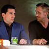 """(L-r) STEVE CARELL as Cal Weaver and RYAN GOSLING as Jacob Palmer in Warner Bros. Picturesâ   comedy, â  CRAZY, STUPID, LOVE."""" a Warner Bros. Pictures release."""