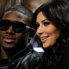 One of Kim Kardashian's most high-profile relationships was with New Orleans Saints player Reggie Bush, a former USC star. The couple is seen here at a New Orleans Hornets basketball game on Jan. 18, 2010. (Photo by Chris Graythen/Getty Images)